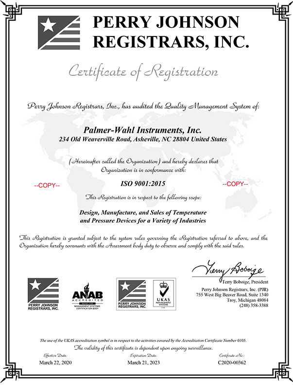 Iso 90012015 Certified Palmer Wahl Manufactures Infrared
