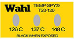 Temp-Spy Low Cost Temperature Labels, 126-137-148C