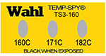 Temp-Spy Low Cost Temperature Labels, 160-171-182C