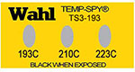 Temp-Spy Low Cost Temperature Labels, 193-210-223C