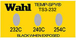 Temp-Spy Low Cost Temperature Labels, 232-240-254C