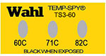 Temp-Spy Low Cost Temperature Labels, 60-71-82°C