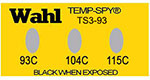 Temp-Spy Low Cost Temperature Labels, 93-104-115°C